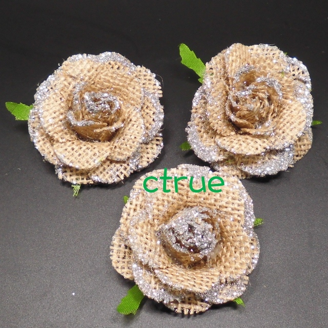 48pc jute burlap hessian flower rose with bling bling rustic wedding 48pc jute burlap hessian flower rose with bling bling rustic wedding centerpieces souvenirs baby shower diy junglespirit Image collections