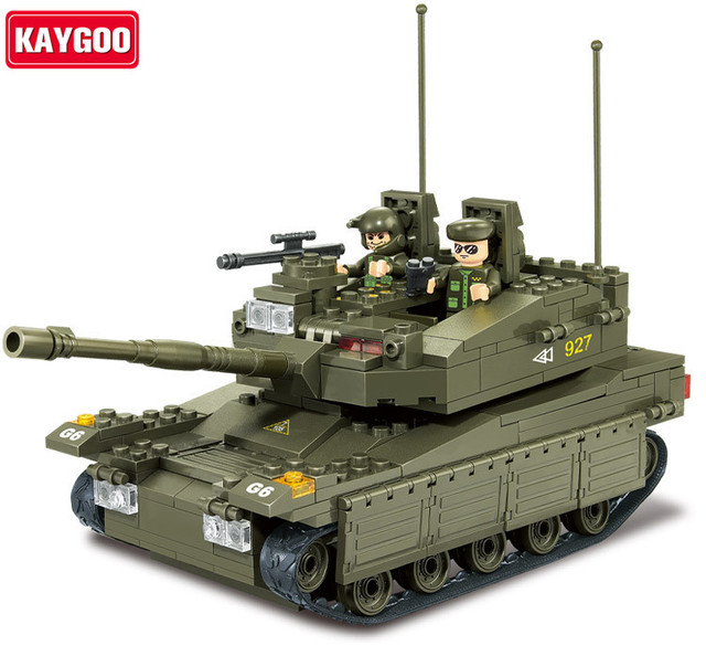 Kaygoo 0305 344pcs 3D construction eductional plastic Building Blocks Sets Military Army Makava Tank children toys Gifts