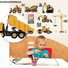 Truck Lorry Builder Wall Stickers Baby Kids Boys Bedroom Decals Stickarounds