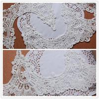 Royal Court Series Embroidered Lace Trim 17cm Vintage Flowers Embroidery Lace Trim White Voile Wedding Lace Trims 10Yards/Lot
