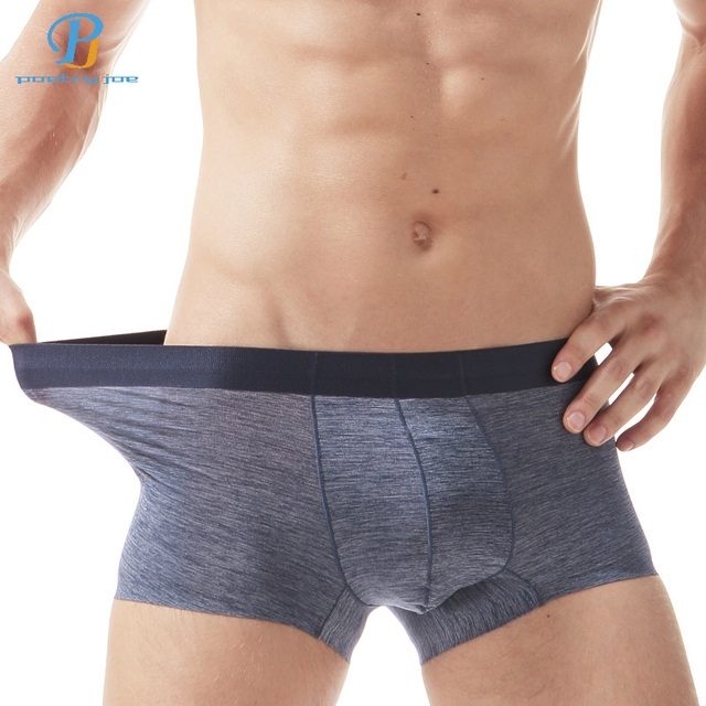 COCKCON Men Underwear Boxers Ice Silk Without Trace Pure Color Breathable  Men Boxer Shorts Sexy Slippery Mens Shorts Boxer 1df94b2a6553