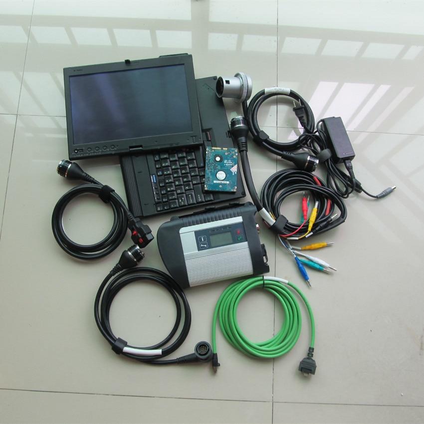 Mb star c4 2019 wifi support avec logiciel 320 gb hdd avec ordinateur portable x200t écran tactile ensemble complet diagnostic pour voitures et camions