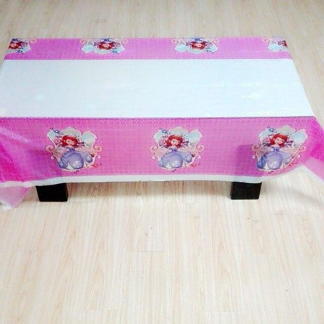 Nappe princesse Sofia 108x180cm | Fournitures pour fête danniversaire, décorations en tissu de Table Sophia pour thème de dessin animé, réception-cadeau pour bébé