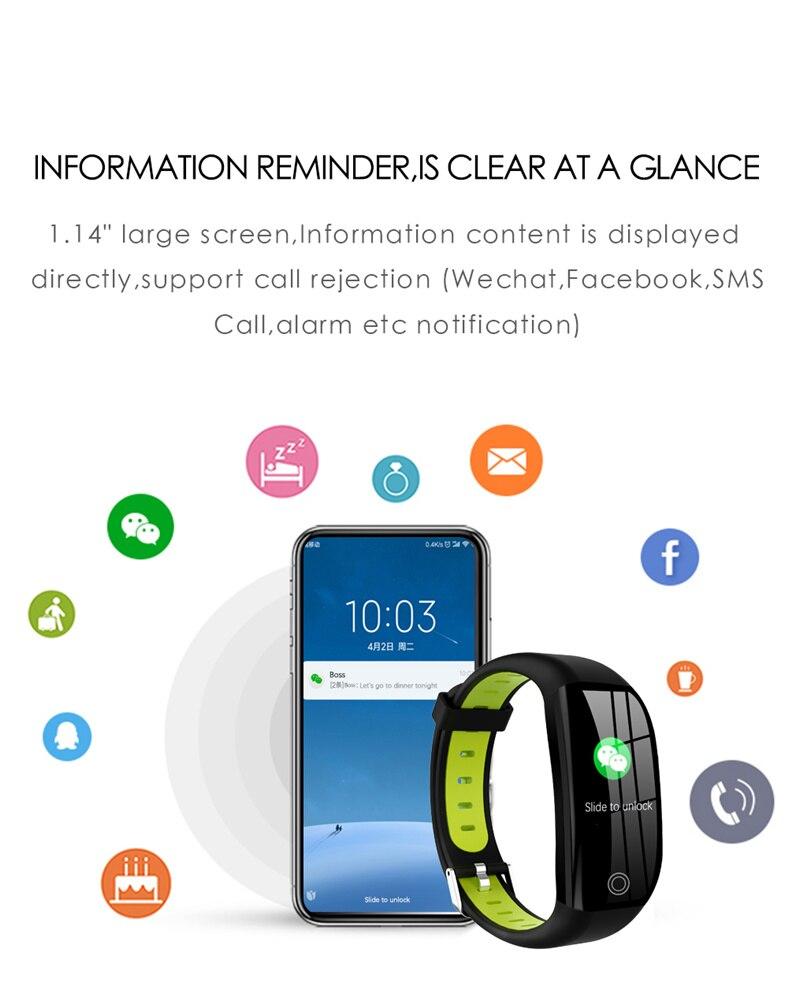HTB1d4E4a3aH3KVjSZFpq6zhKpXaQ F21 Smart Bracelet GPS Distance Fitness Activity Tracker IP68 Waterproof Blood Pressure Watch Sleep Monitor Smart Band Wristband
