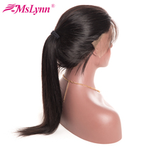 Pre Plucked Lace Front Human Hair Wigs With Baby Hair 8″-24″ Mslynn Non Remy Hair Brazilian Straight Hair Wig For Black Women
