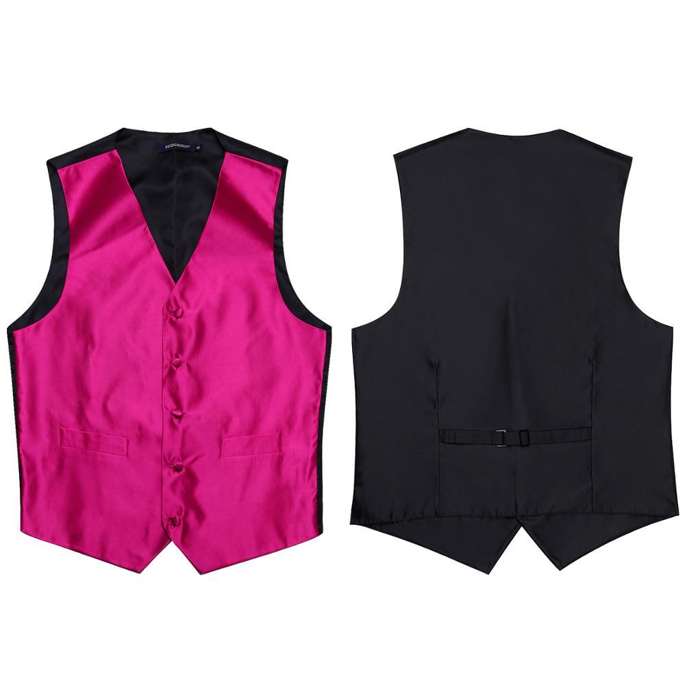 Image 5 - Pocket Square Set Mens Classic Solid Party Wedding NeckTie  Jacquard Waistcoat Vest Pocket Square Tie Suit SetVests   -