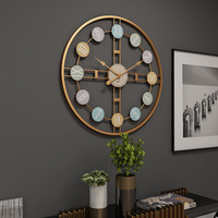 New 3D Hanging Clock 50cm Europe America Fashionable Style Iron Silent Wall Clock Absolutely Silent Bedroom Decor For Home Decor