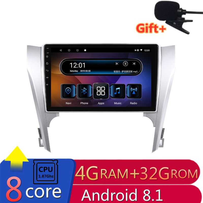 "10.1"" 4G RAM 8 Cores Android Car DVD GPS Navigation For Toyota camry 2012 2013 2014  audio stereo car radio headunit bluetooth"