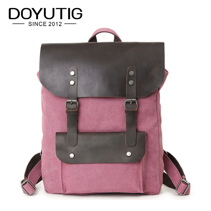 купить Fashion Men Daily Canvas Backpacks Large Capacity Computer Backpack For Laptop Casual Student School Bag Travel Backpacks H007 онлайн