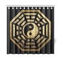 Китайский Yinyang pukua Домашний декор, черный и золотой Восемь Диаграммы полиэстер Ткань душ Шторы Ванная комната Наборы для ухода за кожей