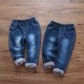 Outono roupa do bebê do sexo feminino 2016 novo desgaste da mola das crianças calças de brim calças pés calças leggings altura lápis calças de algodão do bebê coringa