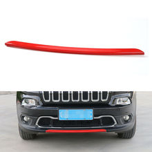 BBQ@FUKA Red Front Exterior Bottom Lower Bumper Protector Cover Trim Fit For JEEP Cherokee 2014-2016 Car Styling Accessories
