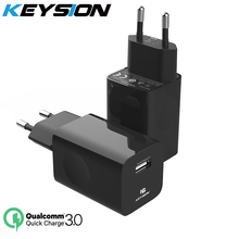 KEYSION 24W Quick Charge 3.0 USB Charger For Samsung Xiaomi Huawei Fast Charging QC 3.0 Travel Mobile Phone Charger for iPhoneXS 3 usb charger quick charge 3 0 fast charging adapter 24w mobile phone qc wall usb cable charger for iphone samsung huawei xiaomi