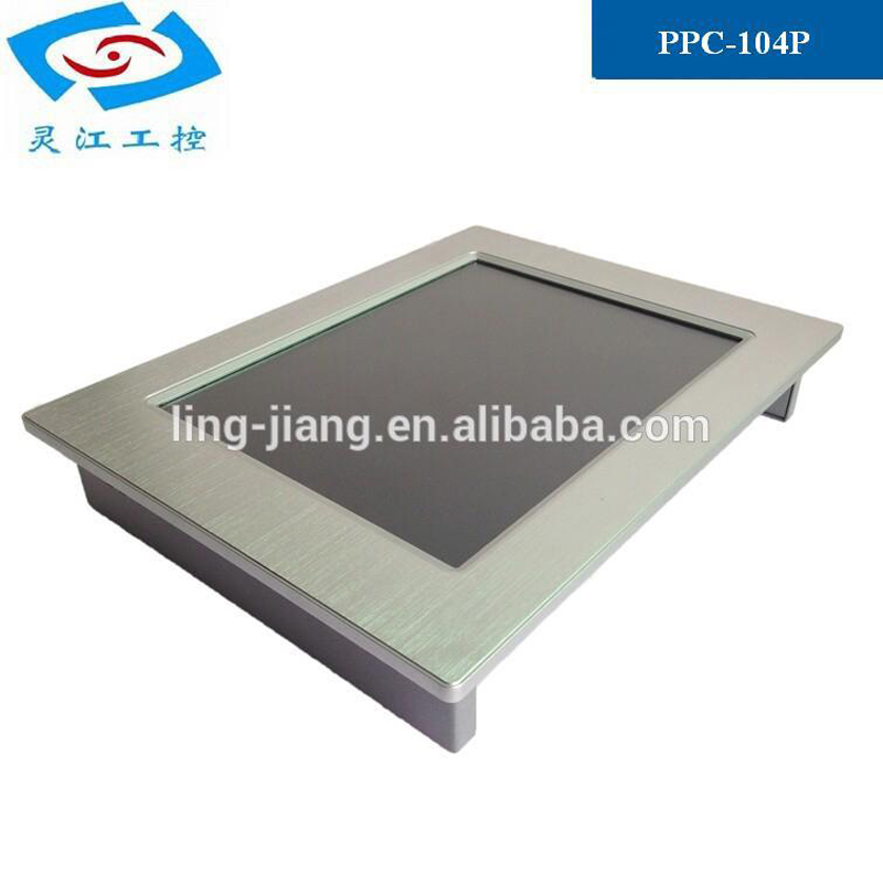 Hot sale 10.4 inch LED backlight fanless mini Industrial panel pc with Intel Atom N2800 CPU