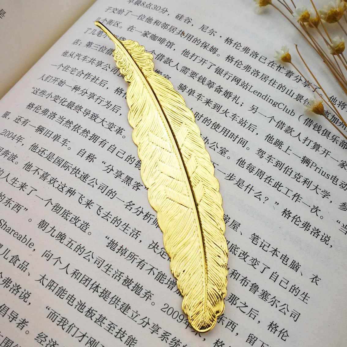 金属の羽のしおりブックマーカーゲストのための花嫁介添人ギフトベビーお土産バック学校にパーティー好意プレゼント