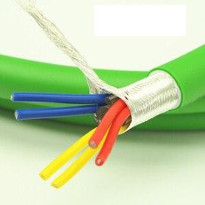 Image 4 - Hi End xangsan 8N OCC gümüş kaplama 6 çekirdek Hifi ses amplifikatörü hoparlör toplu güç kablosu
