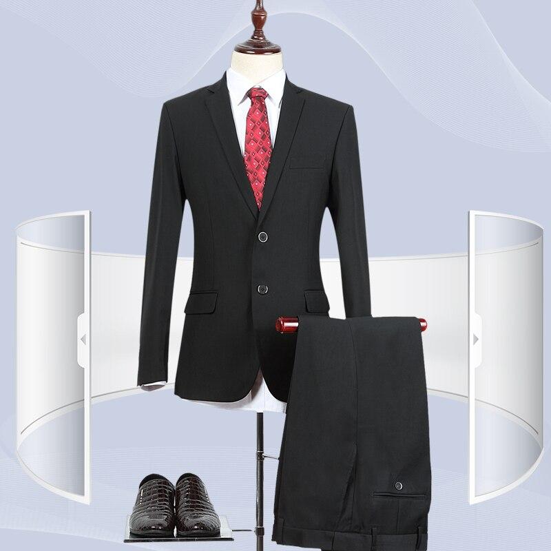 2018 Cérémonie Haute Qualité Vêtements Mariage Pantalon Pantalon D'affaires Avec De veste Hommes Mens Casual Un Slim Costumes 2 Button 1 Fit Button Des SfZqwF5