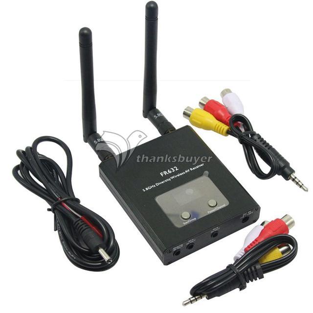 Versión de actualización FR632 5.8G 40CH Dual-way Digital LCD Diversidad Receptor AV Wireless $ number CANALES de Salida de Escaneo