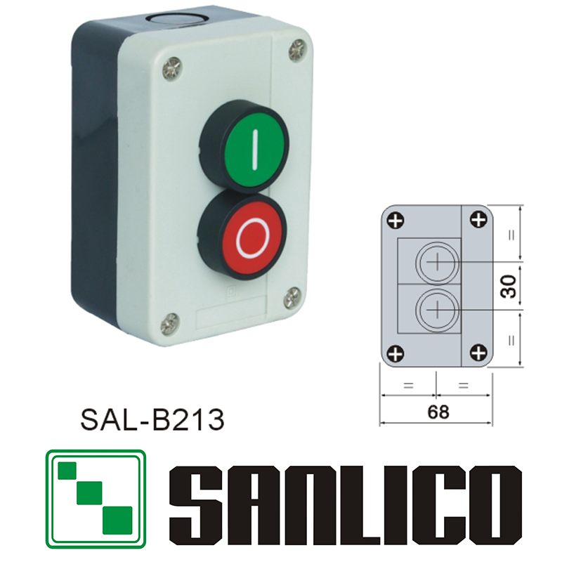 waterproof switch control box momentary push button switch station IP65 SAL(LA68H XAL)-B213