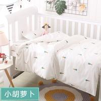 3Pcs/set Baby Bedding Set Crib Sets cute Pattern Baby Cot Set Include Duvet Cover Pillowcase Flat Sheet for newborn girls boys