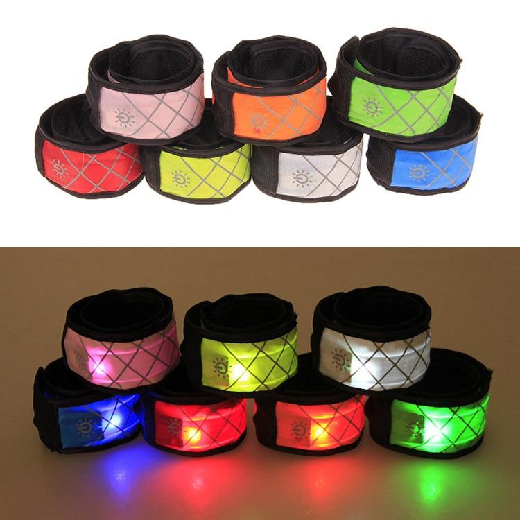 Nylon LED Sports Slap Wrist Strap Band Wristband Light Flashing Bracelet Glow Armband Party Supplies 2018ing