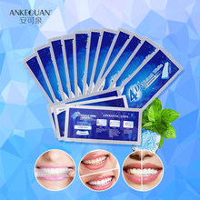 AQUA มาถึงใหม่ 7Pcs 4D Crest ฟัน Whitening Gel Strips ทันตกรรมวัสดุ Blanchiment Dentaire Perfect Smile Veneers ฟัน Care(China)