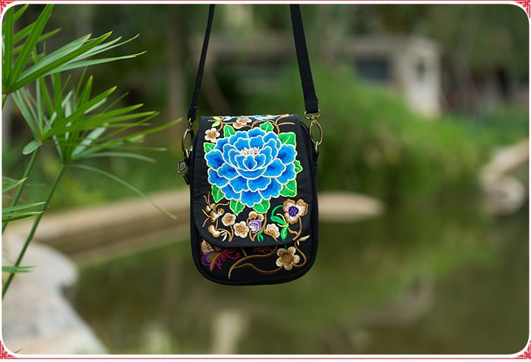 New Fashion embroidery Samll Women bags!Hot Floral Embroidered Lady Shopping Shoulder&cross-body bags National Cute Flap Carrier image