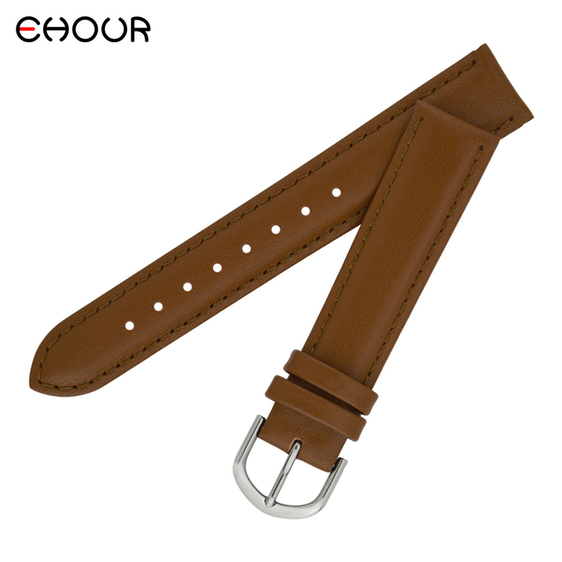 Watchbands 18 20 22mm Leather Dark Brown Black Man Women Handmade Vintage Wrist Watch Band Strap Metal Buckle купить в Москве 2019