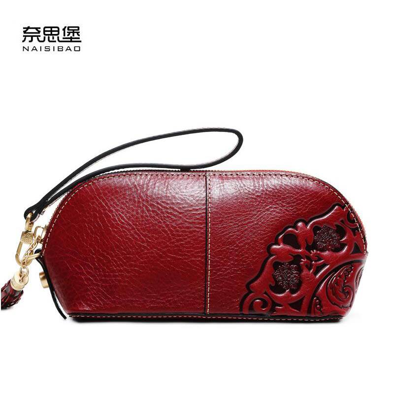 NAISIBAO2018 New luxury fashion 100% high quality hand clutch handbag high-volume first layer of retro leather embossed lady mom asus m4a78 vm desktop motherboard 780g socket am2 ddr2 sata2 usb2 0 uatx second hand high quality