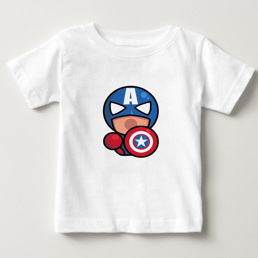 2018 Summer Girls/Boys t-shirt The Super Hero Squad Show Comic T shirt Baby Kids 3d T-shirt SuperHero camiseta Tee shirts NN