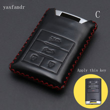 car key cover case High Quality For Cadillac Escalade ATSL SRX XTS SLS CTS STS ATS 4 Buttons Key Shell Cover Bag car key cover case high quality for cadillac escalade atsl srx xts sls cts sts ats 4 buttons key shell cover bag