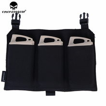 emersongear Emerson 5.56 Triple Mag Pouch Panel Tactical Military Airsoft for 419 420 Vest BK