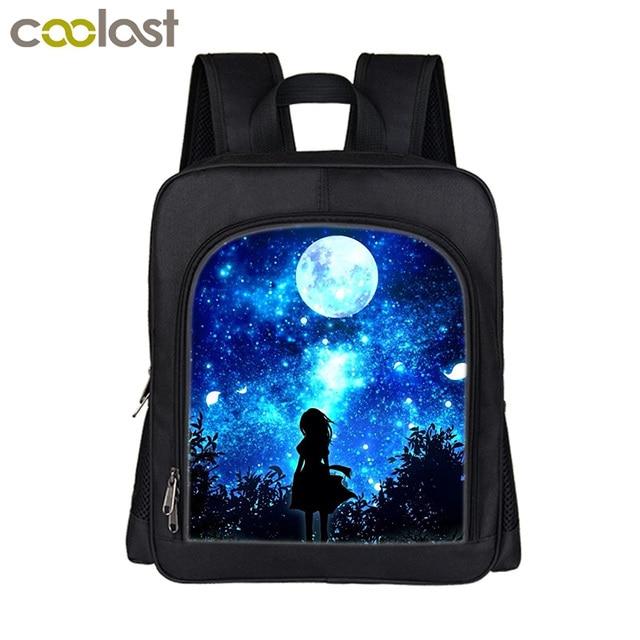 a5e26e8173462 Güzel Yıldızlı Gece Sırt Çantası Kız Erkek Sırt Çantaları Galaxy Okul  Çantaları Küçük Mini Sırt Çocuk