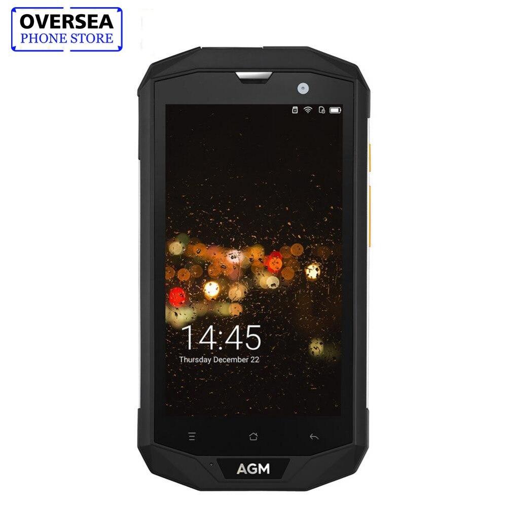 AGM A8 Smartphone 64 4 gb RAM gb ROM 5.0 polegadas HD Telefone À Prova D' Água IP68 MSM8916 Qualcomm Quad Core 13.0MP 4050 mah NFC OTG Telefone