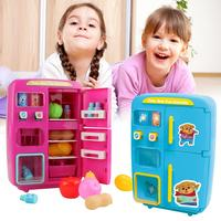 Electric Simulation Refrigerator Small Appliances Kitchen Toys Kitchenware Children Play House Food Toys Series Girl Baby Gifts