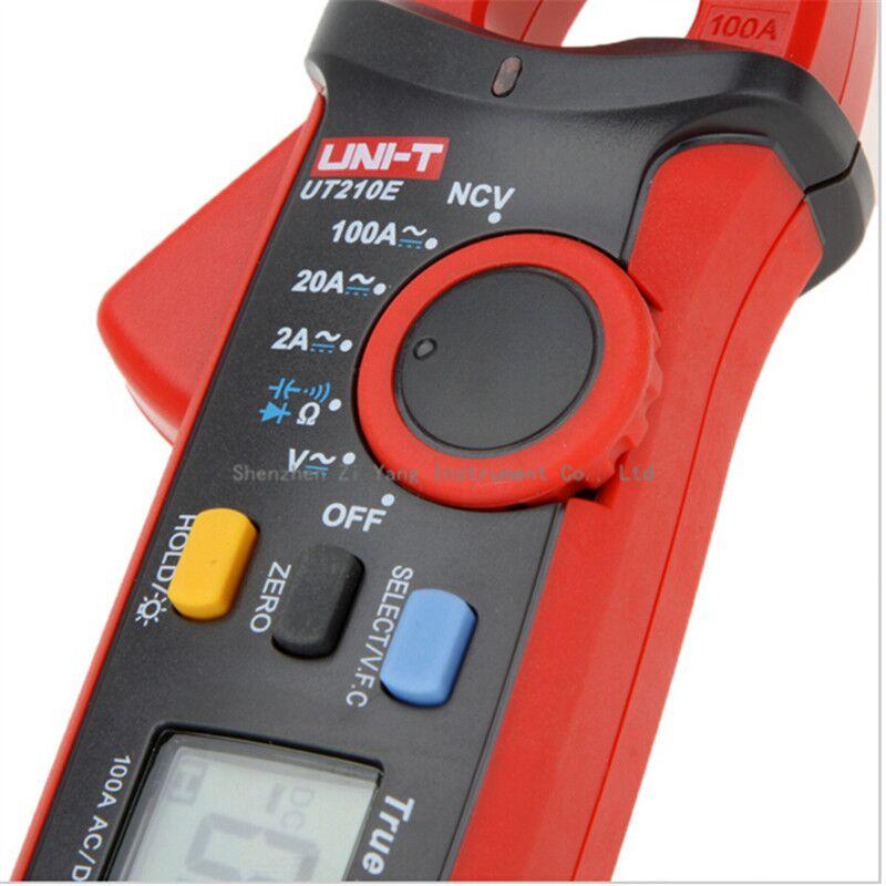 UNI-T UT210E Digital Multimeter True RMS AC/DC Current Mini Clamp Meters Capacitance Tester Digital Earth Ground Multimeter