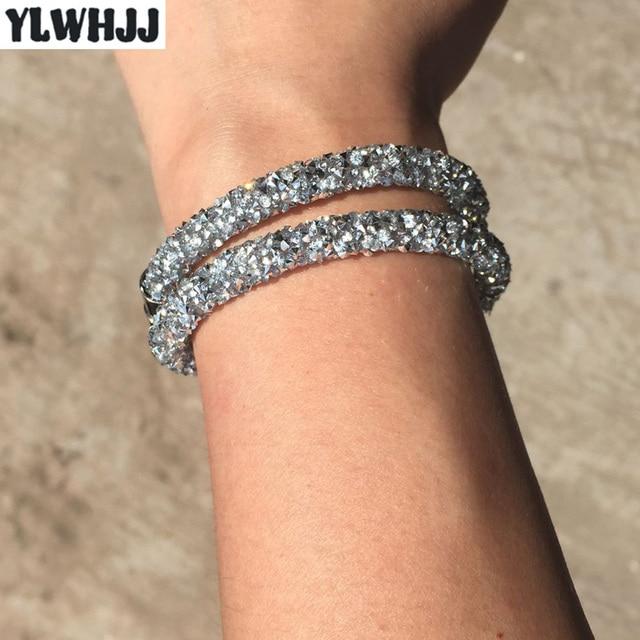 YLWHJJ Women Silver Crystal...