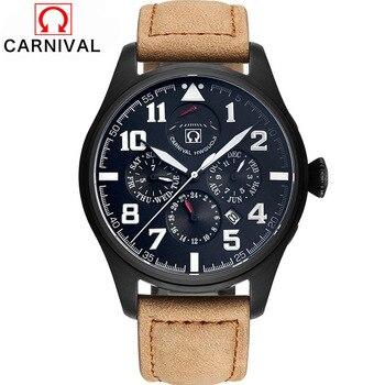 Carnival Top marca impermeable a prueba de golpes serie relojes mecánicos hombres buceo 100M deportes militar reloj de lujo 2017|luxury brand|luxury luxury brand|luxury brand watch -