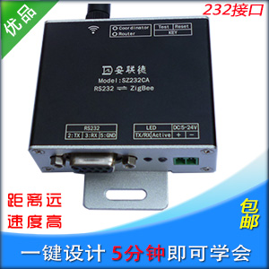 RS232 ZigBee Wireless Module DTU Wireless Serial Port Transmissions CC2530 Module with Power Amplifier Over 3 Km