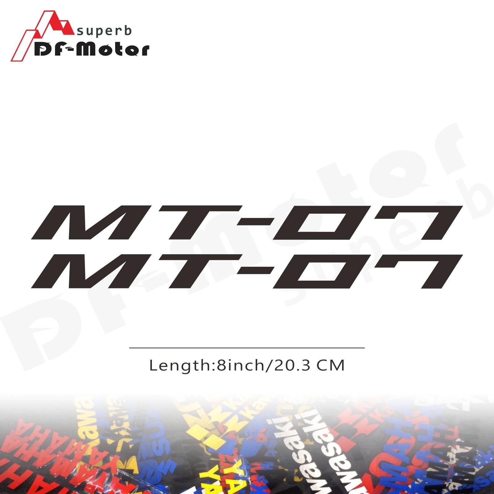 8Inch Reflective Sticker Decal Motorcycle Car Sticker Wheels Fairing Helmet Sticker Decal For Yamaha MT-07 MT 07 MT07