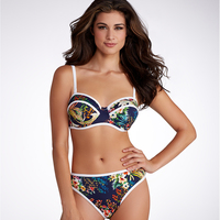 Women Bikini Tropical Bikini Sets Push UP Flower Print Swimwear Summer Style Swimsuit Brazilian Biquini Female