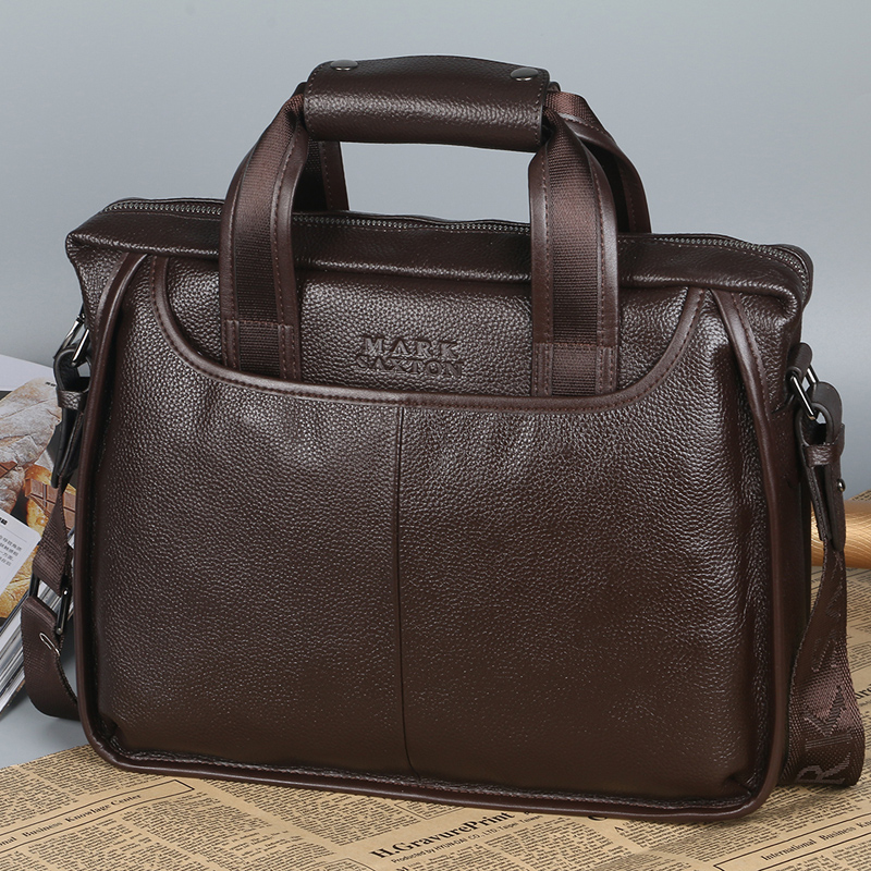 Guarantee Genuine Cow Leather Men Business Briefcase Fashion Men Leather Handbags 13 Laptop Bag Perfect Quality Men Bag ...