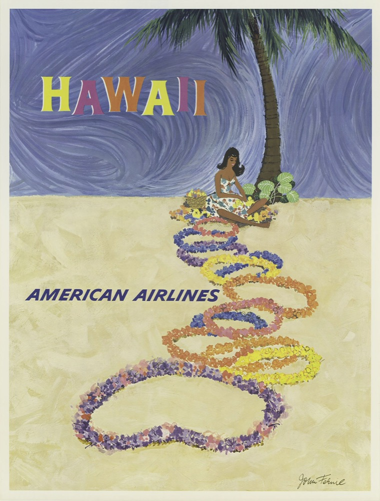 Vintage Hawaii Travel Tourism Hawaiian Hula <font><b>Skirt</b></font> Retro Poster Canvas Painting DIY Wall Paper Posters Home Decor Gift image
