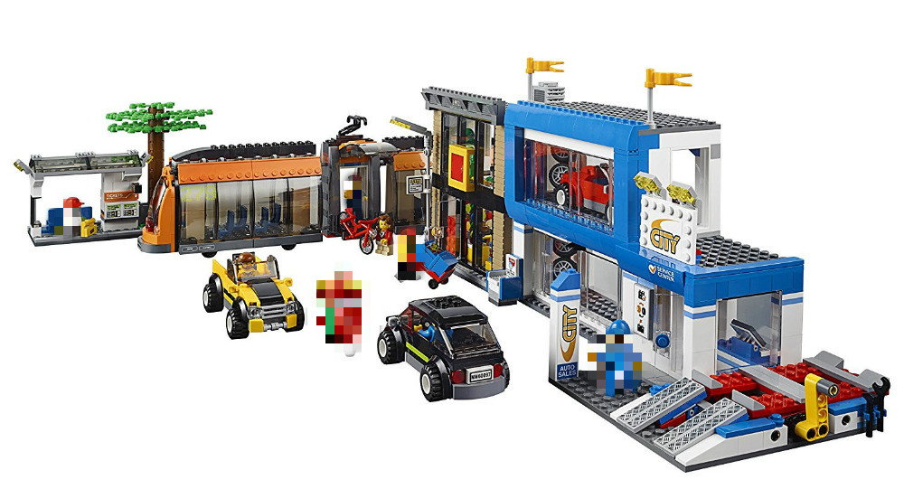 City Town City Square Building Blocks Sets Bricks Kids Model Kids figures Toys For Children Compatible Lepins DIY model 2 sets jurassic world tyrannosaurus building blocks jurrassic dinosaur figures bricks compatible legoinglys zoo toy for kids
