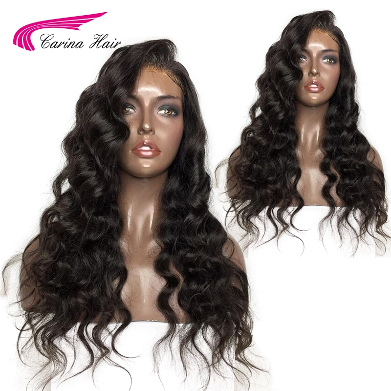 Carina Brazilian Loose Deep Full Lace Wigs with Pre-Plucked Hairline Human Remy Hair Glueless Lace Wigs with Baby Hair