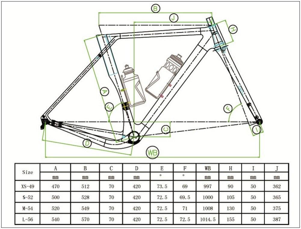 Top Spcycle 2019 New Aero Carbon Cyclocross Gravel Bike Frame And Wheelset T1000 Carbon Disc Brake Road Bike Frameset 49/52/54/56cm 0