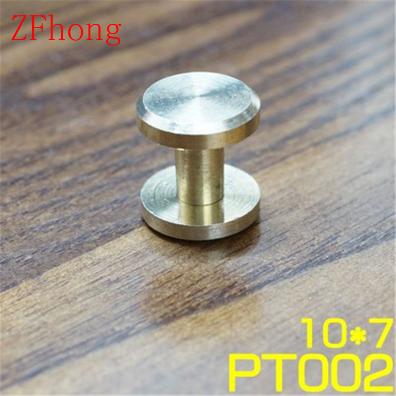20pcs 10*7mm Solid Brass Rivet Chicago Screw for Leather Craft Belt Wallet литой диск fm s165 6 5x16 5x114 3 d73 1 et45 w