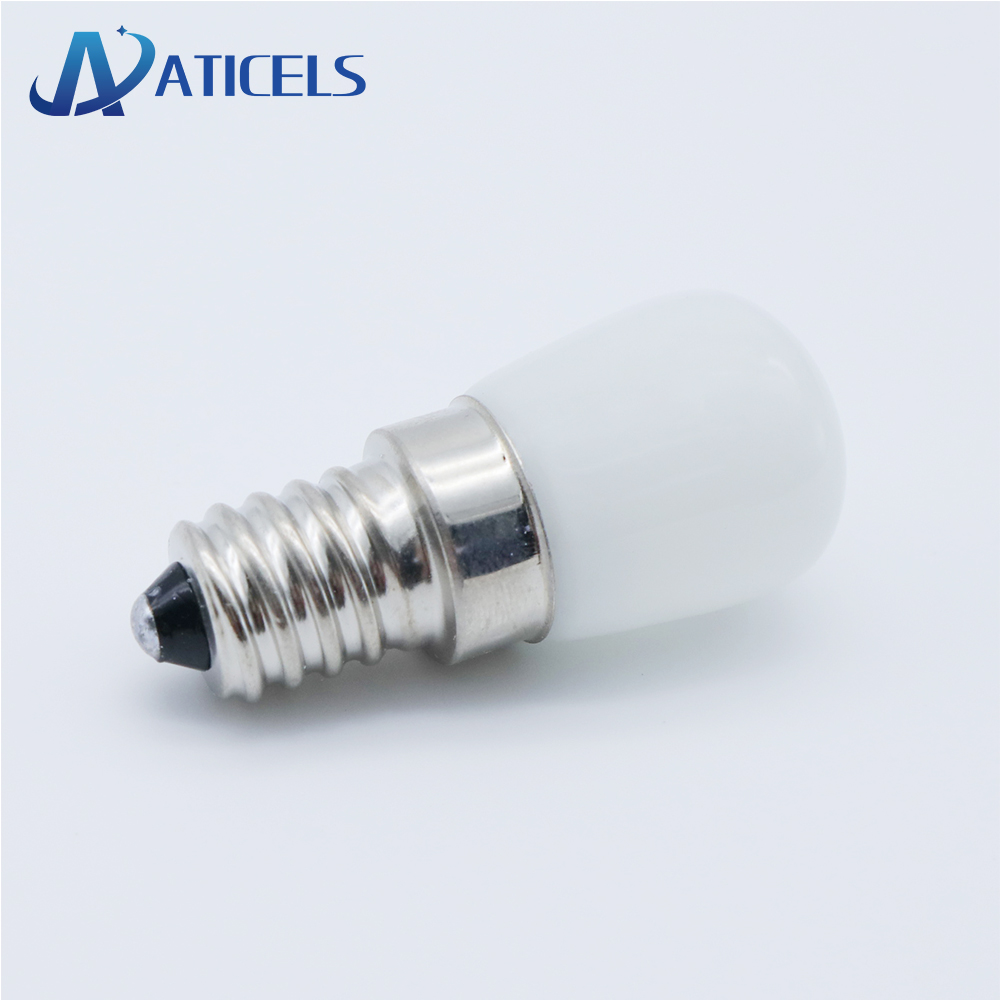 MINI E14 E12 Refrigerator LED Bulb 2W AC 220V LED Lamp White / Warm White For Fridge Freezer Crystal Chandeliers Lighting