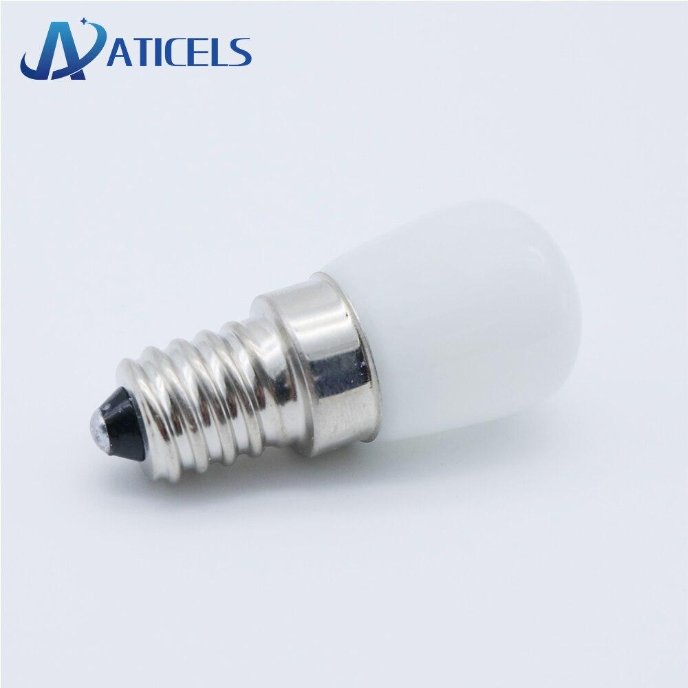 MINI E14 E12 Refrigerator LED Bulb 2W AC 220V LED Lamp White / Warm White For Fridge Freezer Crystal Chandeliers Lighting