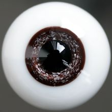 wamami 16mm Glass Dark Pupil Brown Eyes Outfit For BJD Dollfie